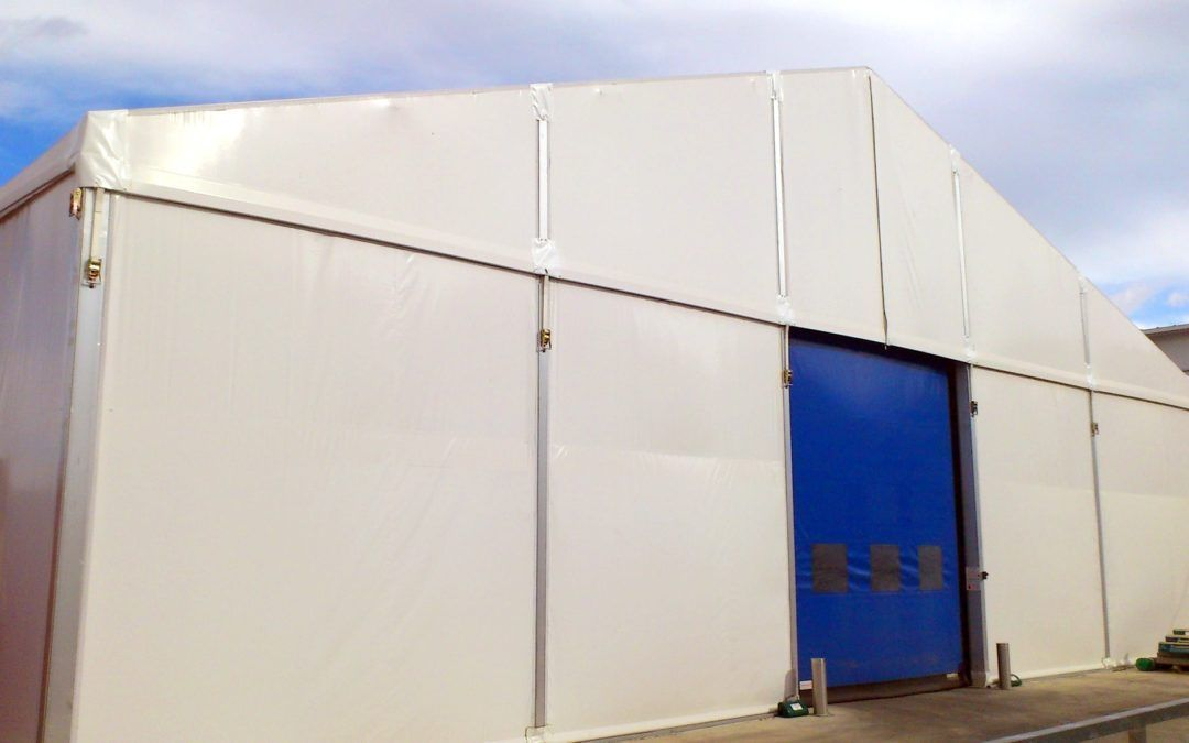 Industrial storage for temporary construction sites