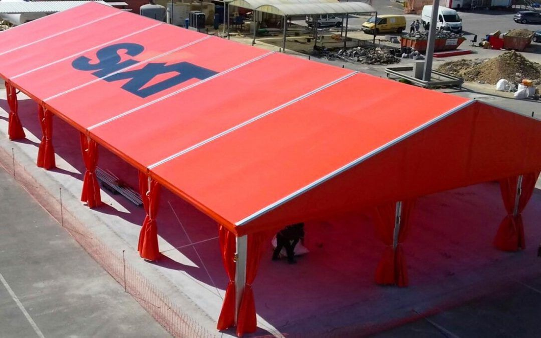 Industrial tents custom printing