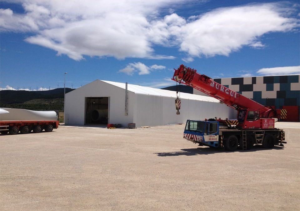 Fabric structures buildings for expanding existing warehouses